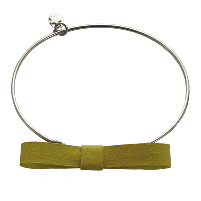 Bracelet jonc discrete jaune